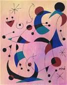 Joan Miro mixed media on paper Spanish