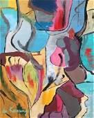 Willem de Kooning oil on canvas on cardboard Dutch