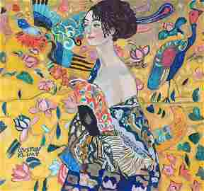 Gustav Klimt gouache on paper Austrian Modernist