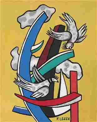 Fernand Leger tempera on paper French Abstract art