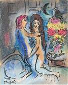 Marc Chagall mixed media on paper Surrealist French