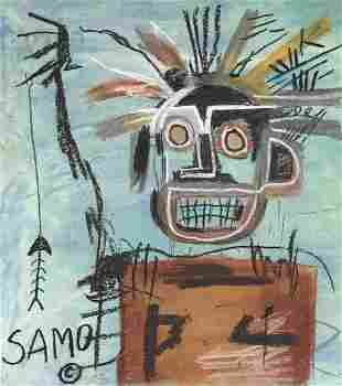 Jean-Michel Basquiat mixed media on paper US