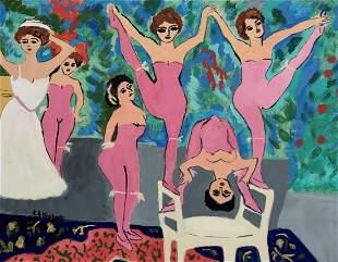Ernst Ludwig Kirchner tempera on paper German