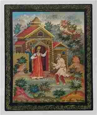 Album prints of miniature painting Russian Folk Art