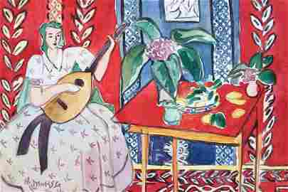 Henri Matisse watercolor on canvas on c/b Expressionism