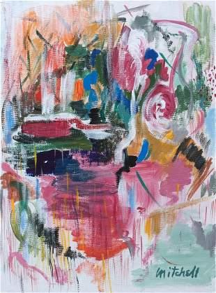 Joan Mitchell mixed media on canvas on c/b American