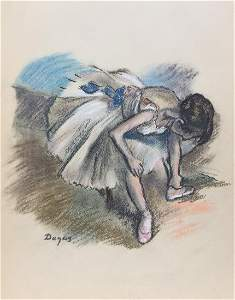 Edgar Degas pastel on paper French Impressionism