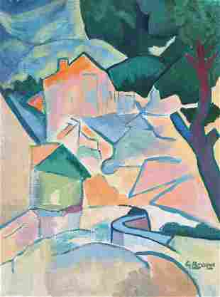 Georges Braque tempera on canvas on cardboard Cubism