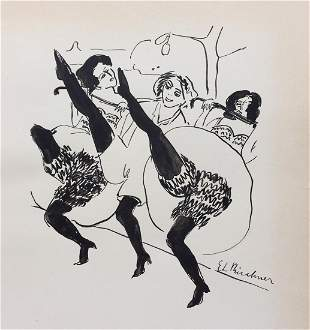 Ernst Ludwig Kirchner ink on paper Expressionism German