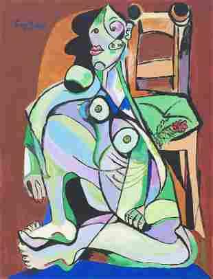 Emil Filla tempera, gouache on paper Czech Cubism