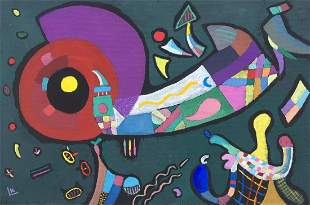 Wassily Kandinsky oil on canvas on c/b Russian
