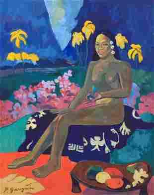 Paul Gauguin tempera on c/b Post-Impressionism French