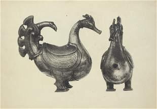 Set of 2 Lithograph Prints Antique utensils