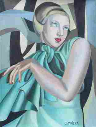 Tamara de Lempicka oil on canvas Polish Modern