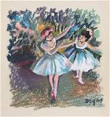 Edgar Degas pastel on paper French Impressionism style