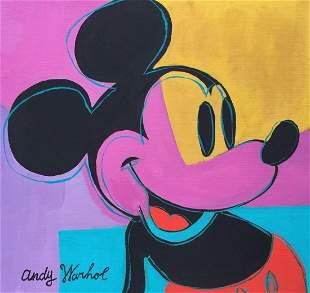 Andy Warhol acrylic on cardboard American Pop Mouse