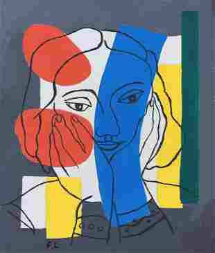 Fernand Leger gouache on paper French Abstract art