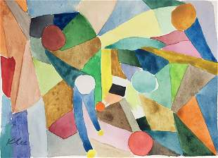 Paul Klee watercolor on paper Swiss German Abstract