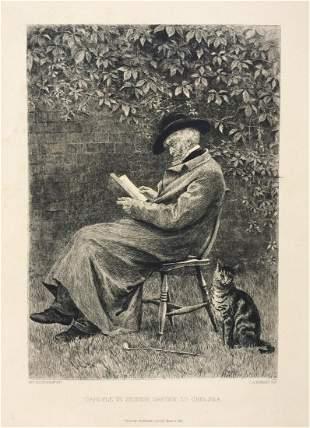 Helen Allingham engraving etching Charles Murray 19th