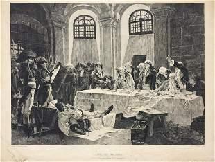Francois Flameng engraving etching antique 1879 museums