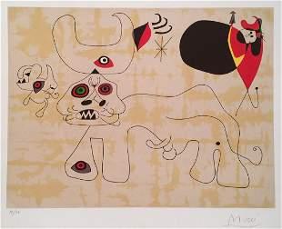 Joan Miro lithograph Spanish surrealist abstract art