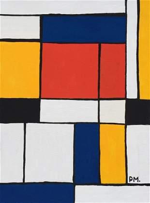 Piet Mondrian acrylic on canvas on c/b Abstract Dutch
