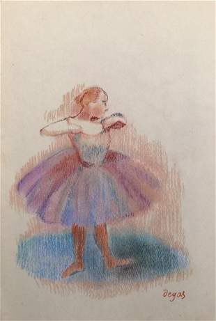 Edgar Degas pastel on paper impressionism French