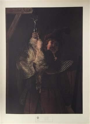 Rembrandt lithograph print vintage Baroque Dutch