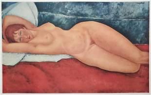 Amedeo Modigliani lithograph print vintage