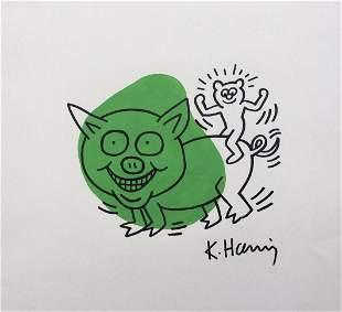 Keith Haring ink on paper American Pop Art