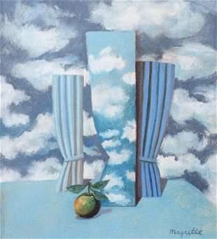 Rene Magritte pastel on paper Belgian Surrealist