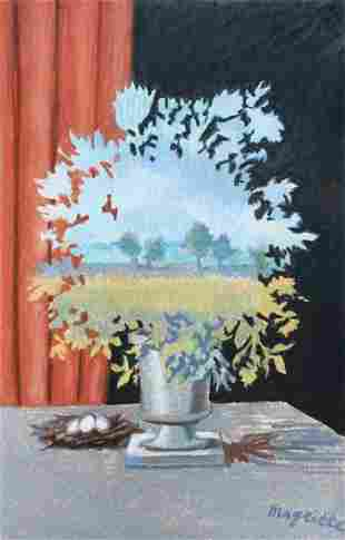 Rene Magritte mixed media on paper Belgian Surrealist