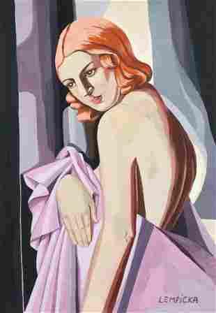 Tamara de Lempicka tempera on paper Polish modern