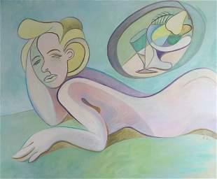 Original painting Marilyn Monroe oil on canvas woman