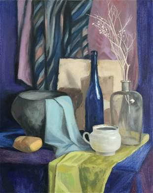 Still life painting oil on canvas Realism