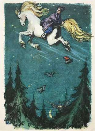 Set of 10 postcards The Little Humpbacked Horse 1957