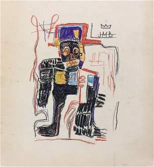 Jean-Michel Basquiat mixed media on paper American