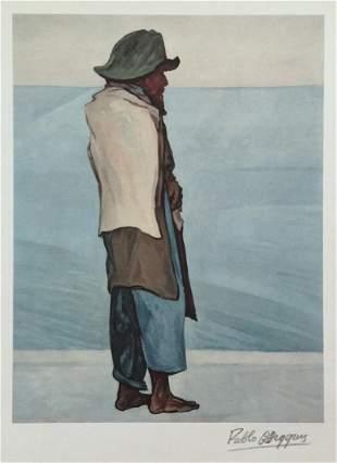 Pablo O'Higgins offset print lithograph Mexican
