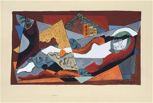 Leopold Survage tempera on paper Cubism French