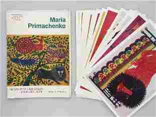 Set of postcards Maria Primachenko Ukrainian Folk Art