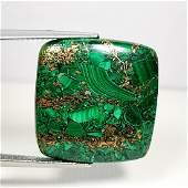 2516 ct Natural Copper Malachite
