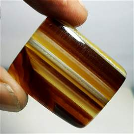 59.50 ct Natural Brown Lace Agate