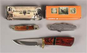Hunting, Utility & Dual Blade Knives Lot