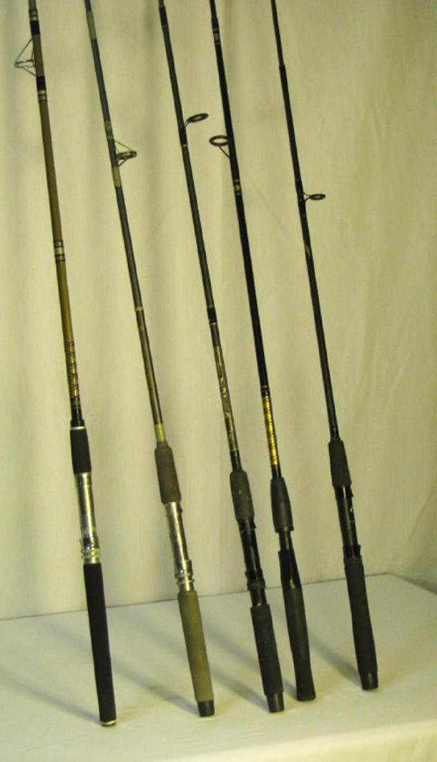 5 Fishing Rods - Shimano, Daiwa & Shakespeare