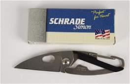 """Schrade """"Simon"""" Clip Knife SS1"""