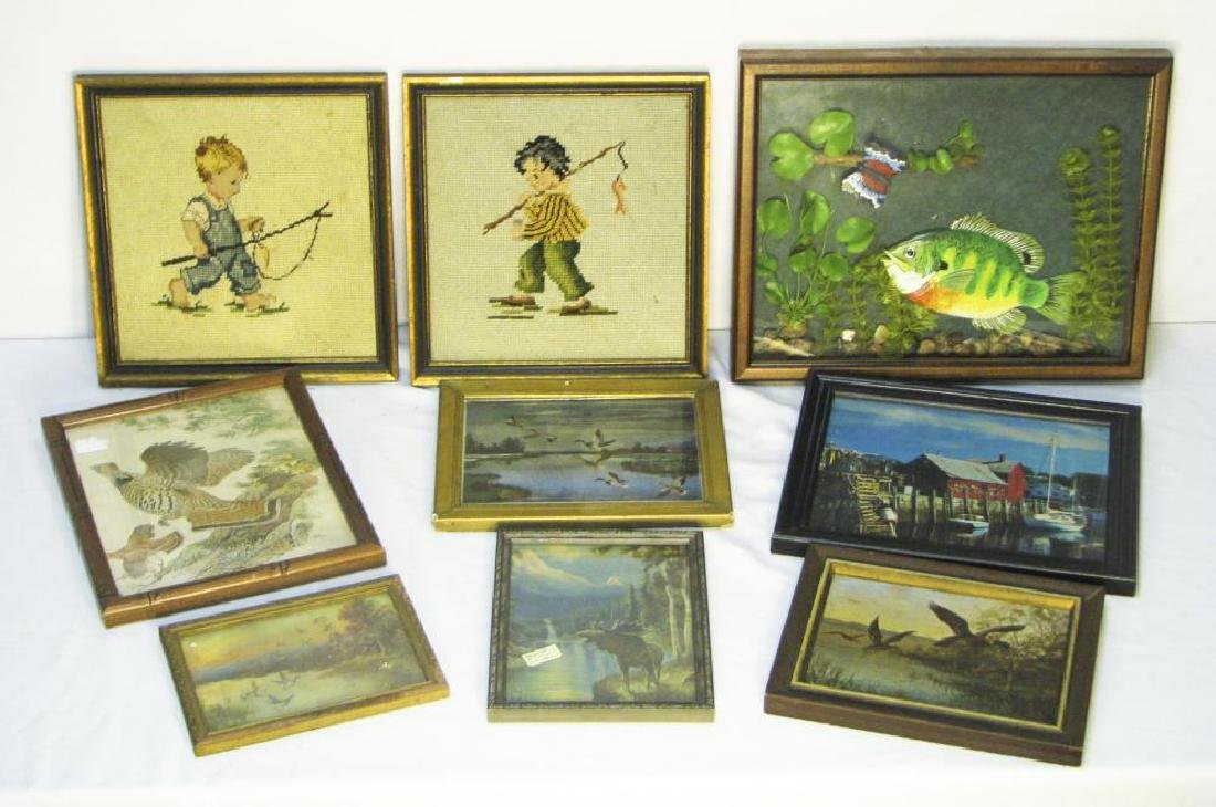 9 Fishing & Hunting Collectible Pictures
