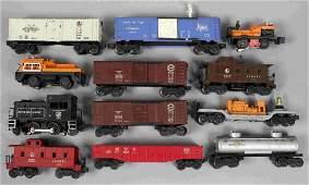 12 Lionel Train Postwar Assorted Rolling Stock