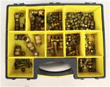 50 Assorted Brass Fittings  Couplers in Case