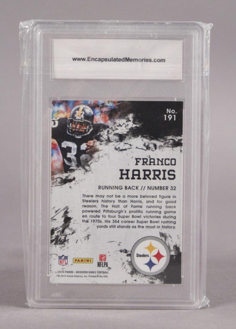 2015 Franco Harris Pittsburgh Steelers Card - 3