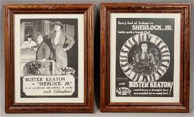 2 Framed Buster Keaton Sherlock Jr Movie Posters